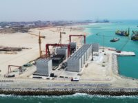 The Quay wall of Tema Port is in progress !